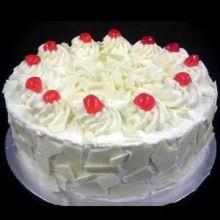Yummy Yummy  White Forest Round Cake to Dhaka Bangladesh