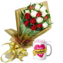 delivery roses with mothers day gift mug to dhaka