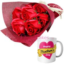 online ​imported red roses with mug in bangladesh