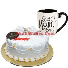 send mr.baker's vanilla cake with decorated mug to dhaka