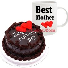 send mothers day mud chocolate cake with mug to dhaka