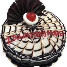 send special black forest round cake to dhaka