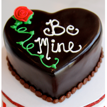 chocolate heart shape cake by swiss cake