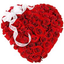 send hundred red roses full heart shaped big box arrangement to dhaka, bangladesh