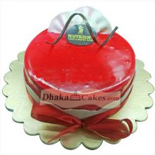 Raspberry Mousse Cake By Nutrient to Dhaka