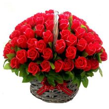 send ​100 red roses in a basket arrangement to dhaka, bangladesh