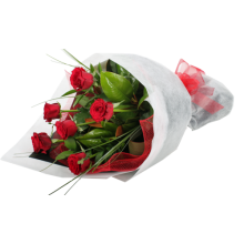 send 6 red roses in bouquet to dhaka in bangldesh