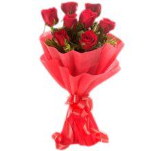 send half dozen roses In bouquet to bangladesh
