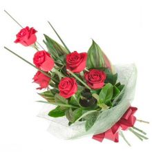 send 6 red roses bouquet to dhaka