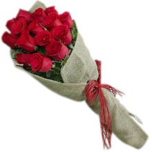 send 12 red roses bouquet with fillers to dhaka