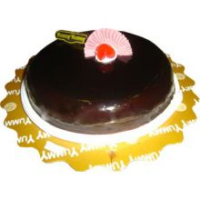 Send Chocolate Ribbon Round Shape Cake to Dhaka