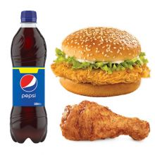 send kfc 2 in 1 meal chicken and burger to dhaka