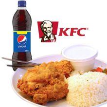 kfc chicken rice meal w pepsi