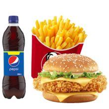 send kfc zinger burger combo to dhaka