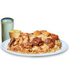 send sultans dine- 1 person kachchi biryani with borhani and jorda/firni to dhaka