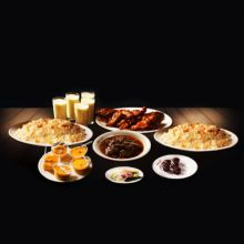 send sultans dine 3 person plain polao platter to dhaka