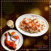 send sultans dine 1 person plain pulao with chicken roast and borhani to dhaka