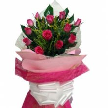 send 12 pink rose to philippines