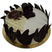 Send 2.2 Pounds New Black Forest Round Cake By California Cake to Dhaka in Bangladesh