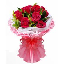 Send 12 Red Roses in Bouquet to Dhaka in Bangladesh