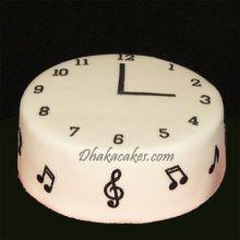 musical vanilla clock cake by skylark send to dhaka
