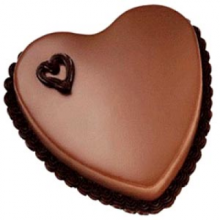 Send 3.3 Pounds Rich Chocolate Heart shape Cake by Yummy Yummy to Dhaka in Bangladesh