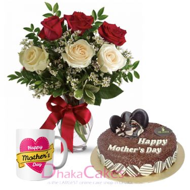 send roses,mug with cake to dhaka