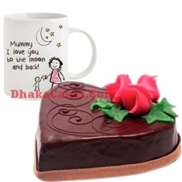 send chocolate cake & decorated mug to dhaka