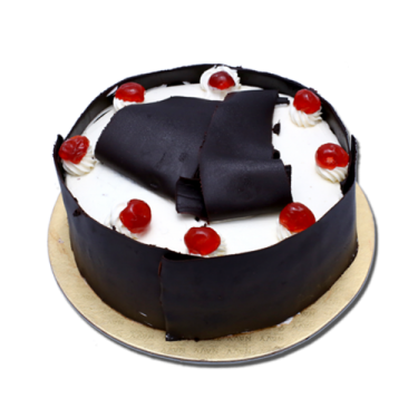 Send 2.2 Pounds Black Forest Round Cake By California Cake to Dhaka in Bangladesh